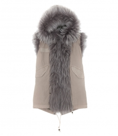 SALINE SLEEVELESS PARKA