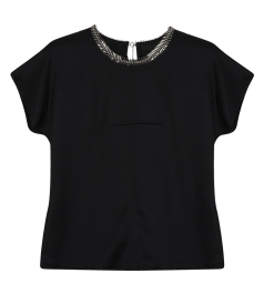 CAP SLEEVE TEE FT FISHBONE CHAIN