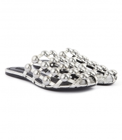 FLATS - AMELIA SLIPPERS FT SILVER STUDS