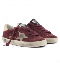 SUPER STAR SNEAKERS IN BURGUNDY