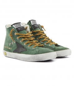 FRANCY SUEDE HIGH TOP SNEAKERS