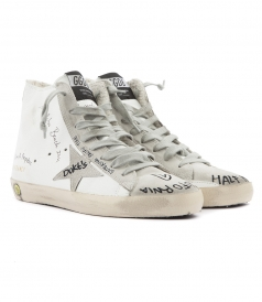 FRANCY HIGH TOP LACE UP SNEAKERS