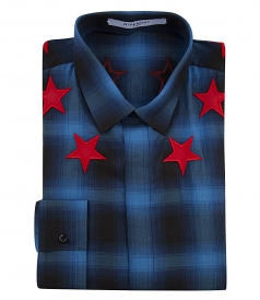 SILVER STAR TARTAN CHECK SLIM FIT SHIRT