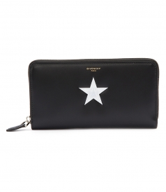 STAR PRINT ZIPPED WALLET