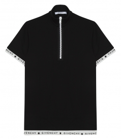ZIPPED COLLAR POLO SHIRT IN COTTON