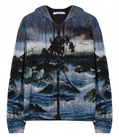 HAWAI PRINTED HOODED WINDBREAKER