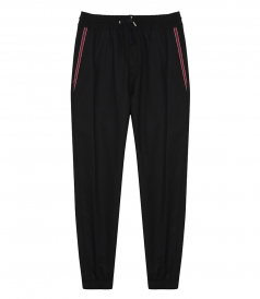 STARS AND STRIPE PANEL TAPERED TROUSERS