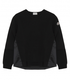 BLACK CONTRASTING PULLOVER
