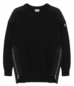 TRICOT PULLOVER IN BLACK