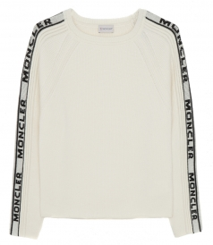TRICOT LOGO SLEEVES SWEATER