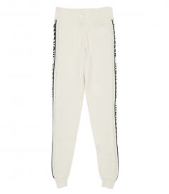 MONCLER KNIT LOUNGE PANTS IN WHITE