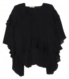 SALES - FRILLED SHIFT BLOUSE