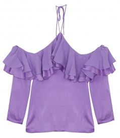 SALES - COLD SHOULDER FRILL TOP