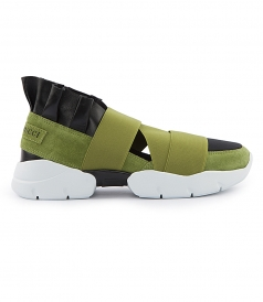 STRAP HI-TOP SNEAKERS