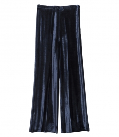 SILK VELVET EVENING PANTS