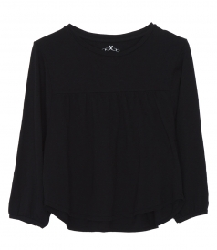 COTTON BLOUSE IN BLACK