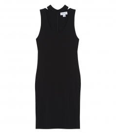 BETHEL STRETCH JERSEY MOCK NECK DRESS