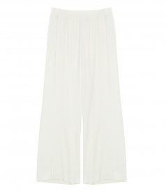 CREPE WIDE-LEGGED CROPPED TROUSERS