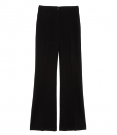 PINTUCK FLARED TROUSERS
