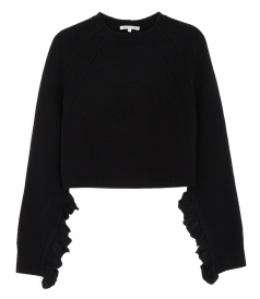 CROPPED RUFFLE PULLOVER
