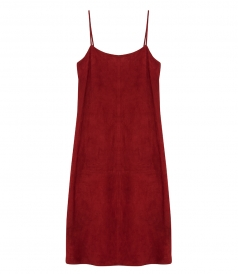 TELSON SUEDE SLIP DRESS