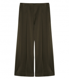LAVABELL PLATTED CROPPED TROUSERS