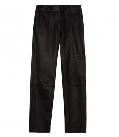 THORELLE NOBLE CROP LEATHER PANTS