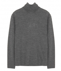 WOOL ROLL NECK PULLOVER