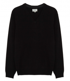 CASHMERE & WOOL V-NECK JUMPER