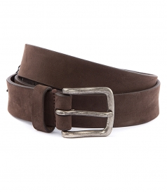 LEATHER BELT IN BROWN