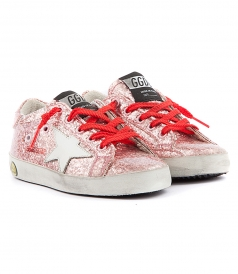 SUPER STAR PINK GLITTERED SNEAKERS