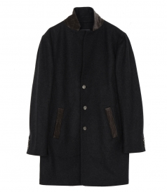 3/4 LENGTH BUTTON FROTN COAT