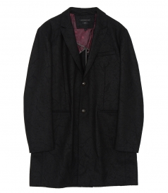 BUTTON FRONT PEAK OVERCOAT