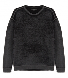 SWEATSHIRTS - REVERSE PRINTED LS SHOULDER SWEATER