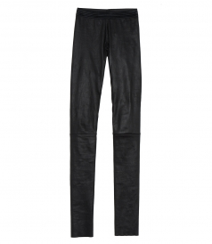 SLIM FIT LEATHER TROUSERS