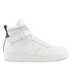 CORENTIN HIGH TOP LEATHER SNEAKERS