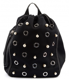 GOGO FAUX PEARL EMBELLISHED BACKPACK