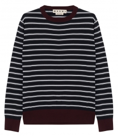 LONG SLEEVE STRIPED KNITTED SWEATER