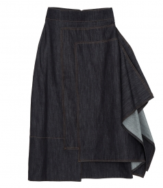 ASSYMETRIC DENIM SKIRT