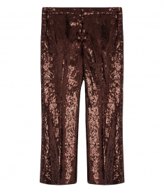 CLOTHES - SEQUIN CROPPED FLARE TROUSERS