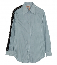 BEADED PANELLING DETAILED SHIRT