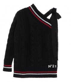 KNITWEAR - CHUCKY ASSYMETRIC KNITTED JUMPER