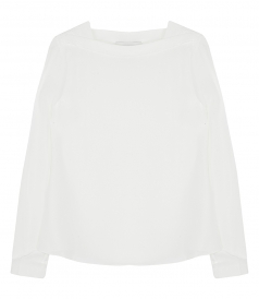 SILK CREW NECK TOP