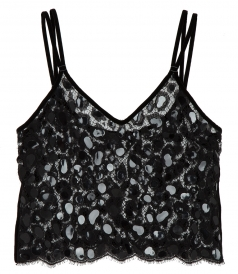 CAMISOLE TOP WITH SCALLOPED HEM