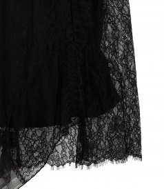LACE PATCHWORK SKIRT