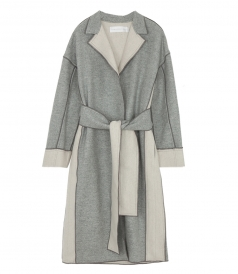 DOUBLE SIDE WOOL & CASHMERE COAT