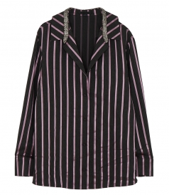LONG SLEEVE STRIPED PAJAMA TOP
