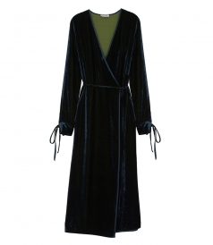 CLOTHES - OCTANE VELVET ROBE DRESS