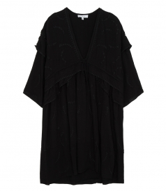 CLOTHES - FALLS EMBROIDERED EDGE DRESS