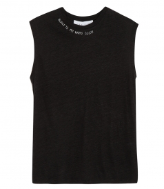 TIGANA STITCHED COLLAR TANK TOP
